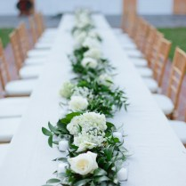 17 Best Images About Our Queen Table Flower Garlands On