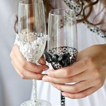Wedding wine glass decorating ideas 17 best images about wedding glasses ideas on emasscraft org junglespirit Gallery