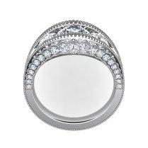 18kt White Gold Tiara Diamond Wedding Band By Decoage – Gems By Joseph