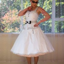 1950s Rockabilly 'elise' Wedding Dress, With Sweetheart Neckline