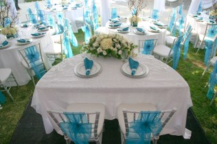 Aqua And Silver Wedding Theme