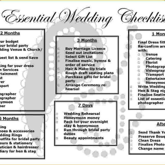 Basic Wedding Checklist