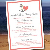 Beach Wedding Itinerary Template Wedding Planner