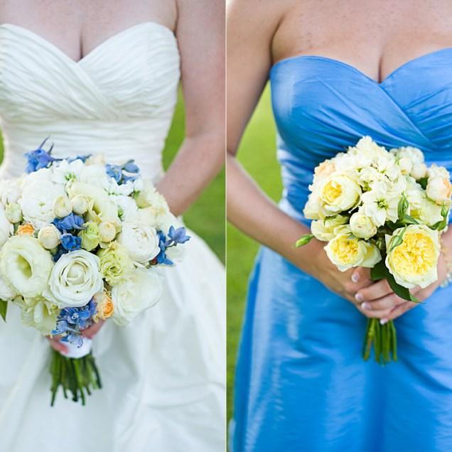 Blue Yellow Wedding Flowers