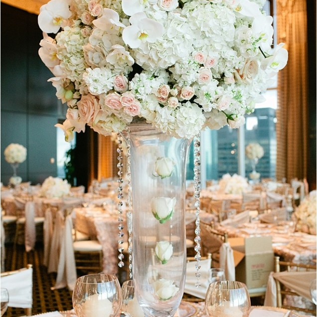 Ivory And Gold Wedding Centerpieces