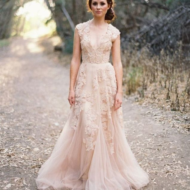 Blush Colored Wedding Dresses Young Teen Tube
