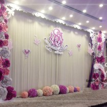 Cheap Paper Flower Backdrop