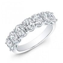 Classic Style Oval Shape Diamond Wedding Band