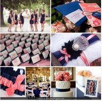 Cloud Nove Events Nicole's Inspired Navy And Coral