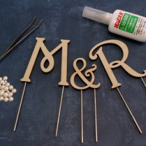 Craftcuts Comwood Monogram Cake Toppers