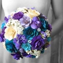 Creative Of Purple And Blue Wedding Bouquets