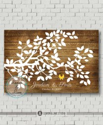 Custom Guest Book Rustic Wedding Tree Wedding Guest Book