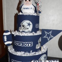 Dallas Cowboy Themed Diaper Cake