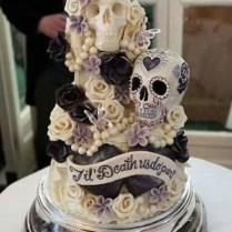 Day Of The Dead Wedding Cake By Choccywoccydoodah Â« Horrific Finds