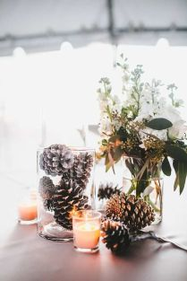 Decorating Simple Ideas For Unique Winter Wedding Centerpieces On