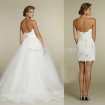 Detachable Skirt Wedding Dresses
