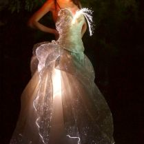 Details About Fiber Optic Light Up Sparkles Wedding Gown Flower