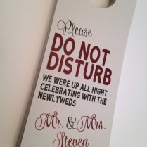 Do Not Disturb Hotel Door Tags With Welcome