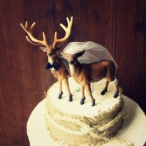Doe And Buck Cake Topper