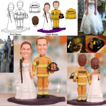 Firefighter Wedding Cake Toppers Photo Album