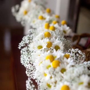 Flowers Daisies & Gypsophila White Arrangement Flowers