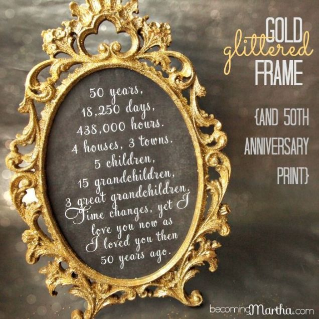 Gallery 50th Wedding Anniversary Gifts For Parents Image 3 Of 16
