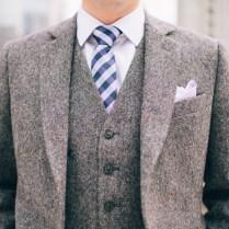 Grey Tweed Wedding Suit