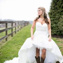 High Low Bridesmaid Dresses With Cowboy Boots High Low Short