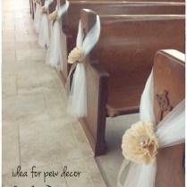 Hope And Joy Home Diy Wedding Pew Bows …