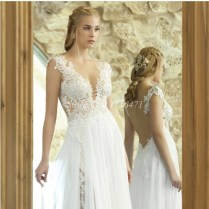 Images Of Backless Beach Wedding Dresses