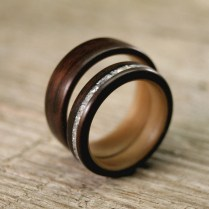 Images Of Wooden Wedding Ring Sets