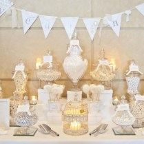 Ivory And White Wedding Candy Buffet