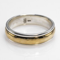 James Avery Men's Sterling Silver And 14k Yellow Gold Wedding Ring