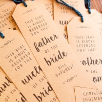 Make Your Own Wedding Ceremony Chair Reserved Signs!
