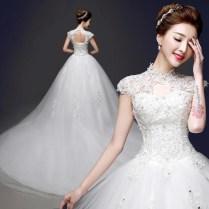 Mandarin Collar Wedding Dress Online Shopping