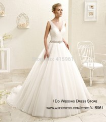 Online Shop 2016 Simple Newest Cheap Wedding Dress Tulle Ball Gown