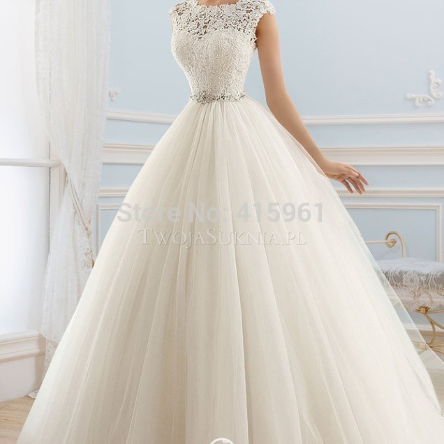 Online Shop Real Sample Ivory Princess Wedding Dresses Lace Robe