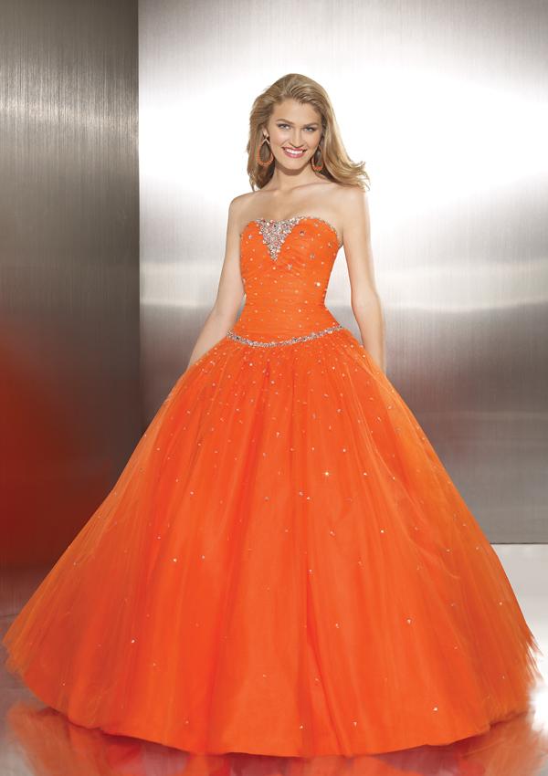 Orange Dress for Wedding