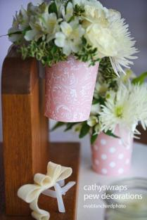 Pew Clip Vase Pew Decorations, Wedding Ceremony Aisle Flower Vases