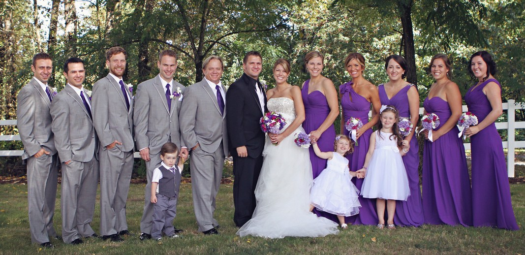 Grey And Purple Wedding Theme