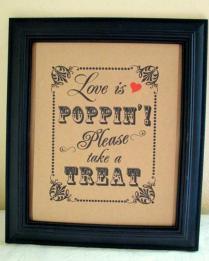 Popcorn Wedding Favor Sayings