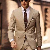 Popular Mens Beige Suit