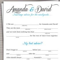 Printable Wedding Mad Lib Guest Book Alternative Diy