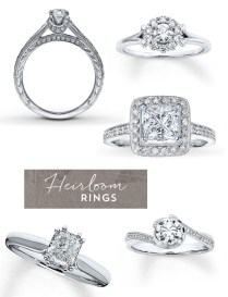 Rose Gold Heirloom Engagement Rings From Jared