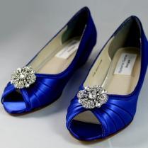 Royal Blue Wedding Shoes Wedge