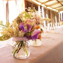 Rustic Wedding Reception Floral Centerpieces