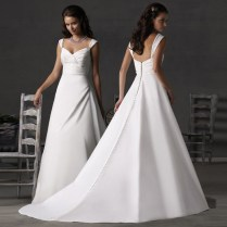 Silk Satin Wedding Dress