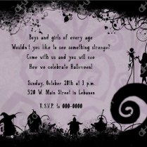 Stirring Nightmare Before Christmas Wedding Invitations