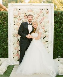 The Hottest 2015 Wedding Trend 22 Flower Wall Backdrops