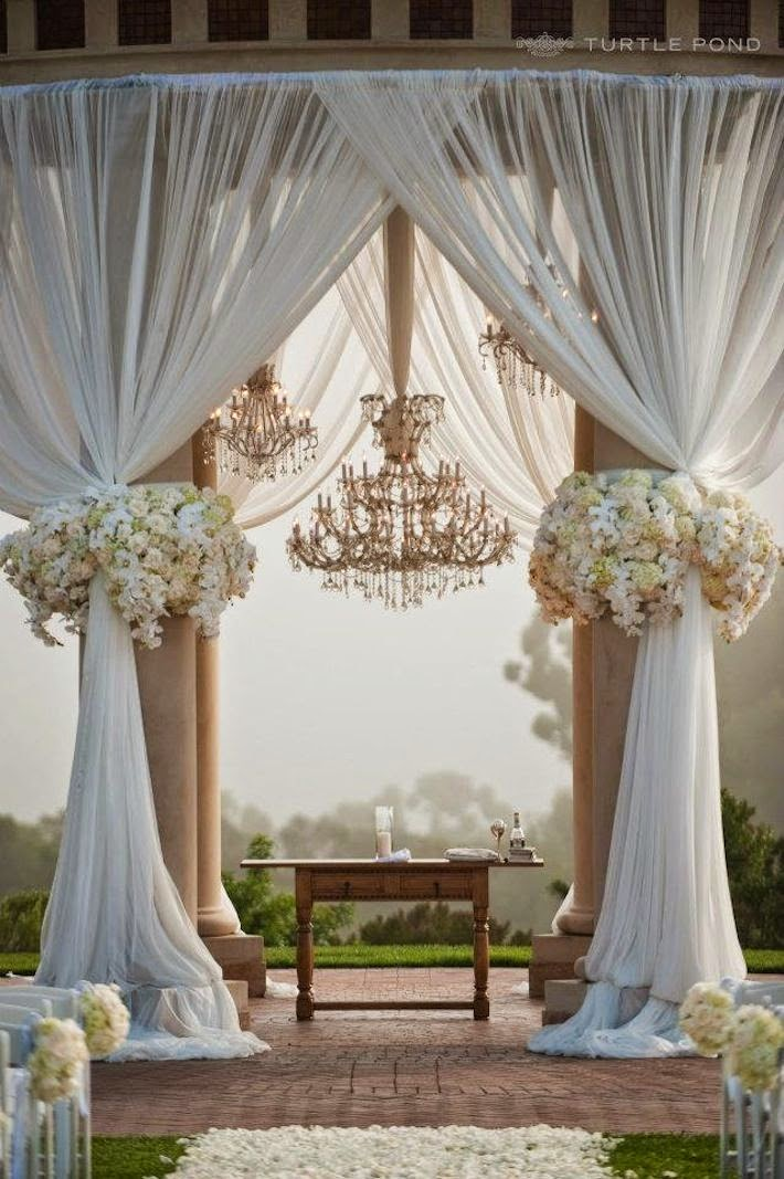 Wedding Decorations Using Tulle